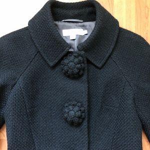 BODEN Black Wool Flower Button Blazer Jacket 🇬🇧